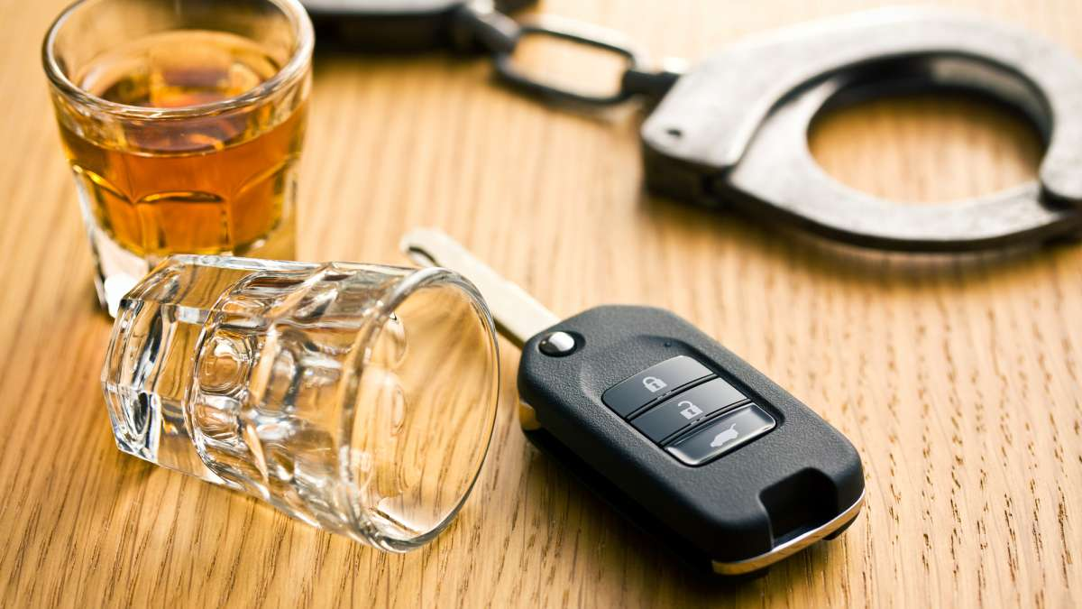 Drinking and Driving Alcohol Handcuffs Keys