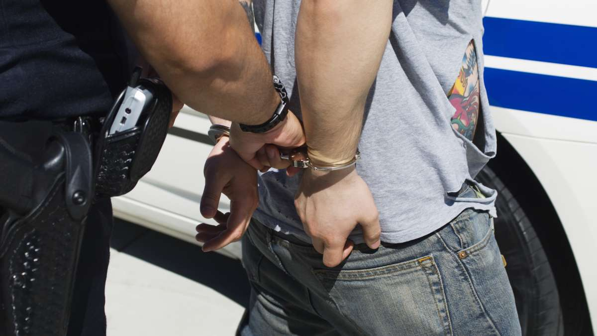 Officer Arresting Young Man after First DUI DWI